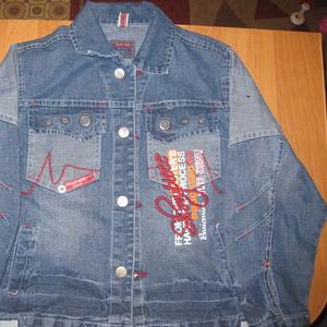Джинсовый пиджак.